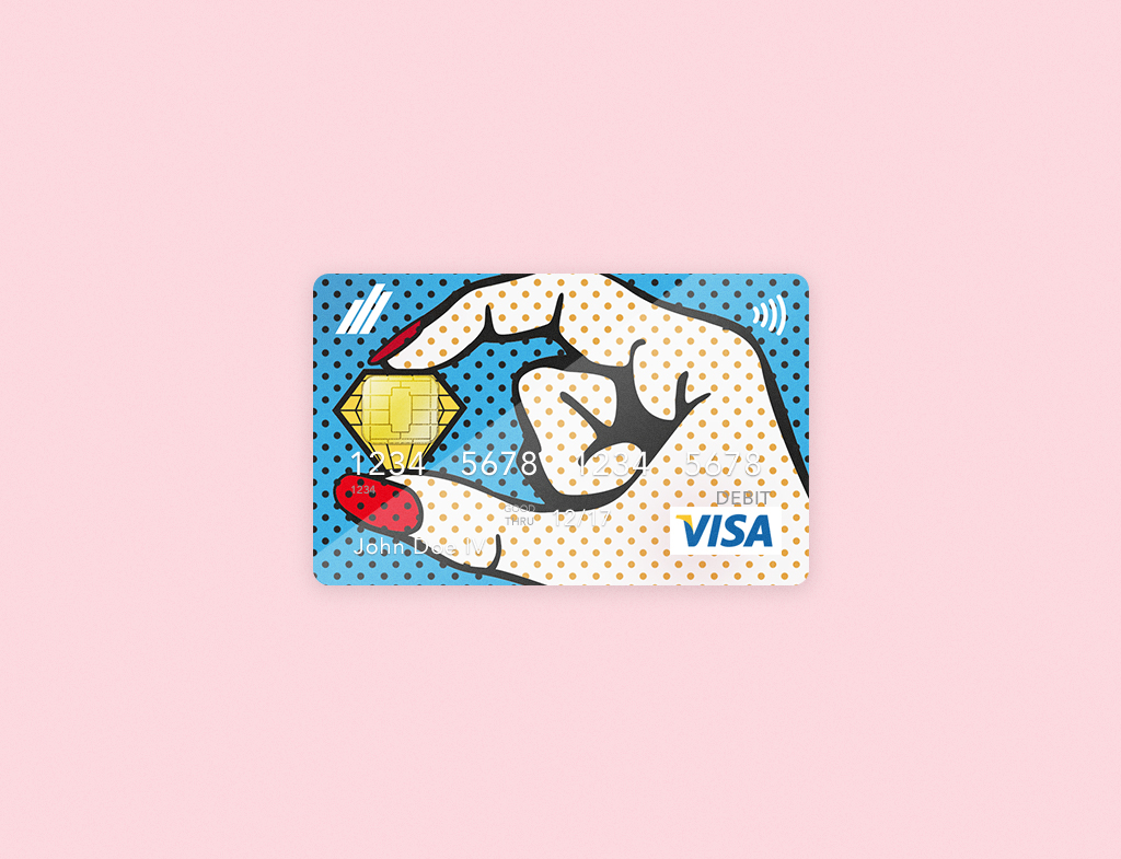 Visa pop art