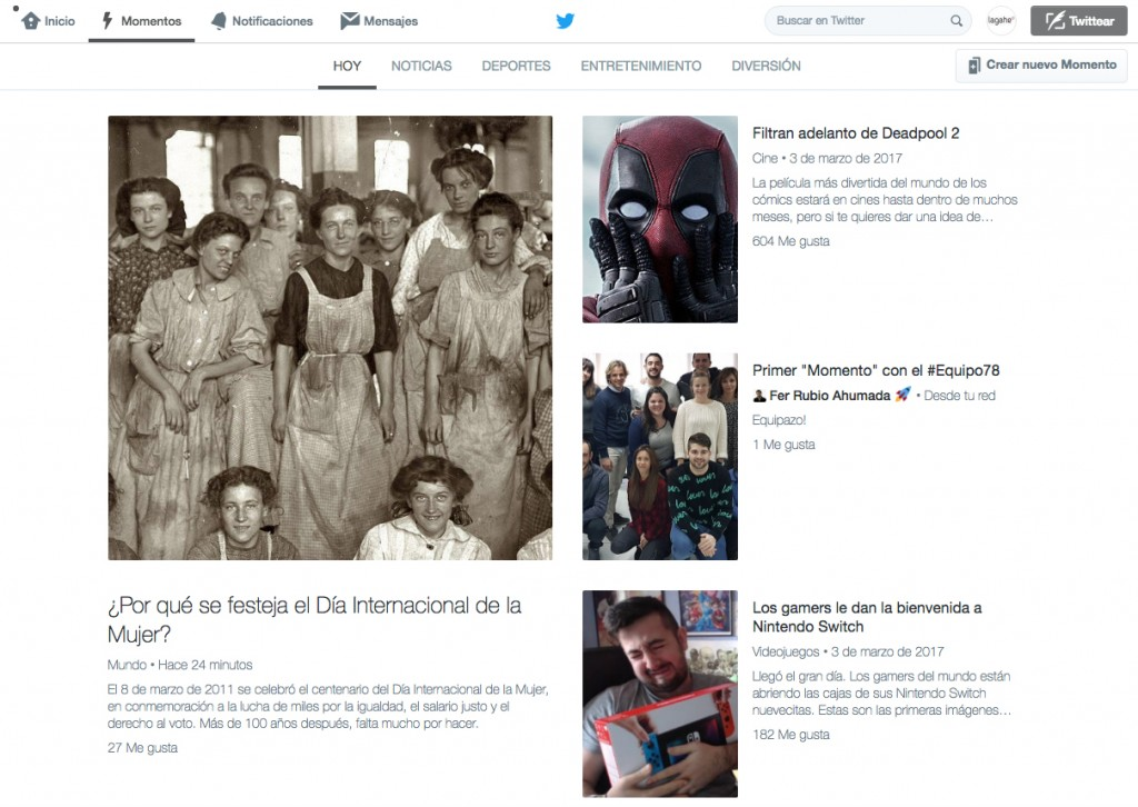 Moments Twitter