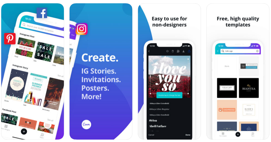 Canva, aplicación para crear instagram stories