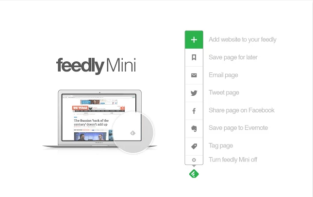 feedly extension chrome