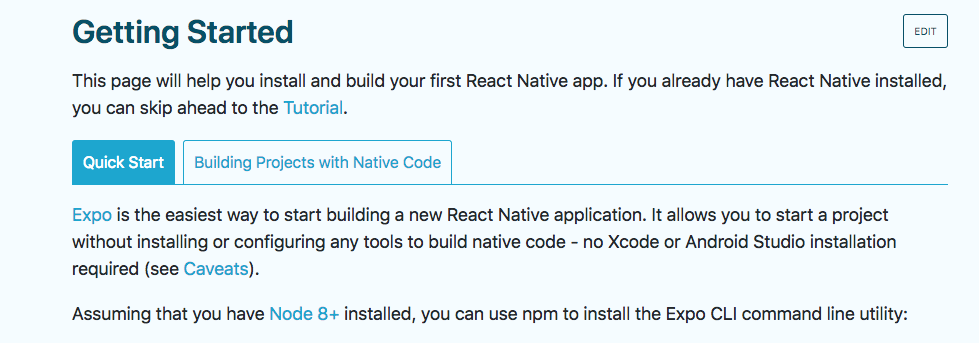 instalación React Native